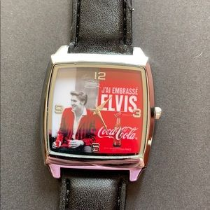 Accessories - NWOT, Square Face, Coca-Cola Elvis Watch
